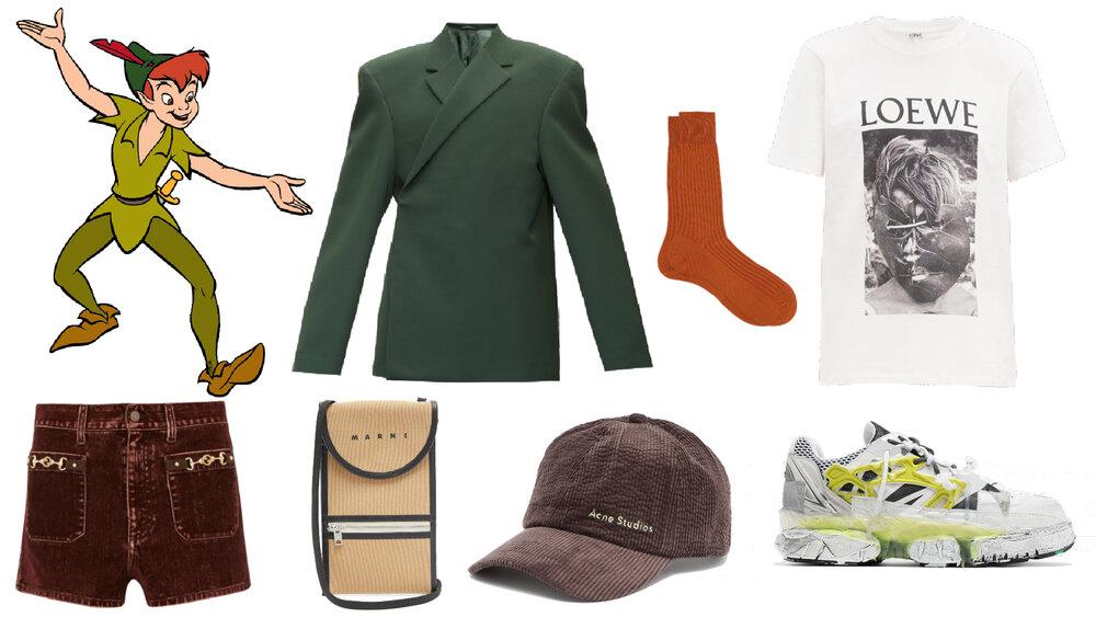 Blazer: Balenciaga, Shorts: Gucci, Bolso cruzado: Marni, Gorra: Acne Studios, Calcetines: Pantherella, Camiseta: LOEWE, Tenis: Maison Margiela.