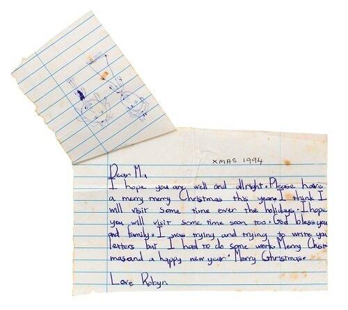 Cartas escritas por Rihanna en la infancia.