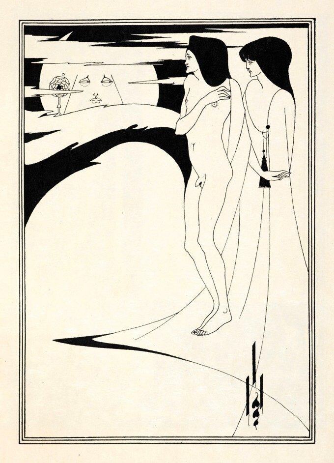 Ilustración de Aubrey Beardsley para  Salome , de Oscar Wilde.